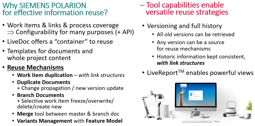 Why Siemens Polarion for information reuse 1
