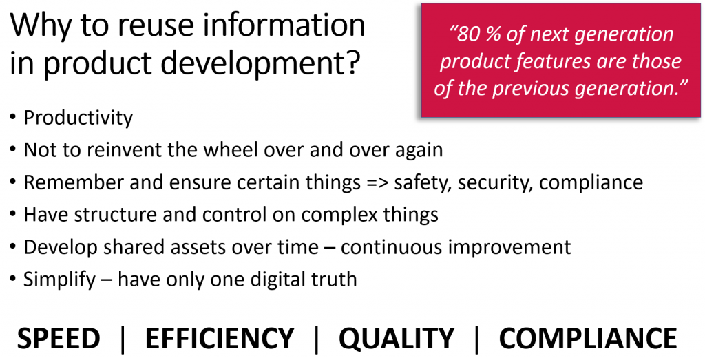 Why to reuse information in product development